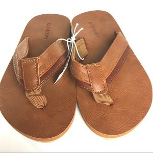 Pieced Faux Leather Sandals for Boys SZ 12/13